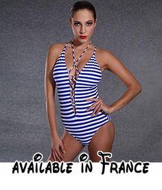 Thatch Maillot de bain pour femme Bikinis Maillots deux pièces Fashion Sexy,Possession of Blue Sapphire Blue Plus,XXL