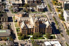 Aerialpics.com  Wayne State University, Old Main, Detroit, Michigan
