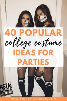 Here are 40 of the hottest last-minute costumes ideas that are perfect to wear to a college party.This is the most creative college halloween costumes ever. Creative College Halloween Costumes, College Costumes, Halloween Party Kostüm, Homemade Halloween Costumes, Halloween Costumes For Girls, Halloween Couples, Family Costumes, Group Costumes, Halloween 2019