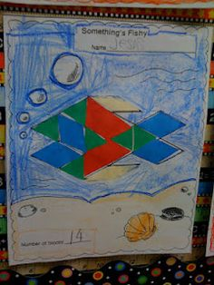 pattern block fish for critical thinking, shapes, and graphing