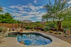 Arizona Homes by Angela: 3 Bedroom Home With Heated PebbleTec Pool In Scott...