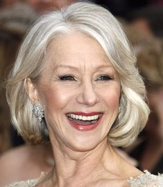 Going gray doesn't mean you have to stop having fun with your hair. Try out a full, sexy bob like Helen Mirren's with these blow dry tips.  - GoodHousekeeping.com