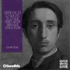Diseño no es lo que ves, es lo debes hacer para que otros vean.              #EdgarDegas Edgar Degas, Movie Posters, Web Development, Design Web, Film Poster, Billboard, Film Posters