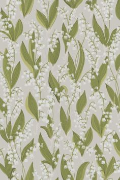 Lily of the valley wallpaper from Sandbergs is a fun and romantic design that comes in three different colors, grey, black and beige. wallpaper Lily of the valley wallpaper-light grey Flower Wallpaper, Pattern Wallpaper, Grey Wallpaper, Bathroom Wallpaper, Flower Power, Tableaux D'inspiration, Virginia Creeper, Climbing Roses, Backgrounds
