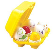 Non-Candy Easter Basket Ideas for Baby: Egg Matching Squeaky Toy