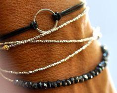 SALE Good Karma bracelet. Sterling silver by VivienFrankDesigns