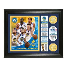 The NBA Golden State Warriors 2018 NBA Finals Champions Banner Photo Mint commemorates the 2018 NBA Champions. This collectible features a custom and a individually-numbered photo of the 2018 NBA Finals champs' key players along with a banner. Golden State Warriors 2018, 2018 Nba Champions, Warrior Spirit, Draymond Green, Wedding Gift Registry, Banner, Mint, The Incredibles, Bronze