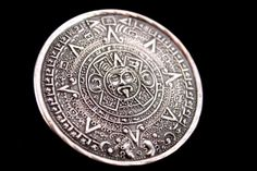 SALE HUGE Aztec Silver Mayan Calendar Pendant Brooch - Sterling Mexico (Vintage, Ethnic, Tribal, Unique) Free Shipping, Free Gift Box (Use coupon code HOLIDAYS to save 15% off!)