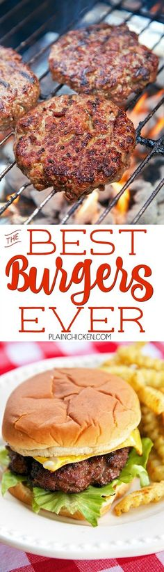 Best Burgers EVER! - these are hands down the best burgers I've ever eaten! SO…