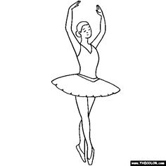 Ballerina fifth position Ballet Coloring Page  texture book - tulle skirt