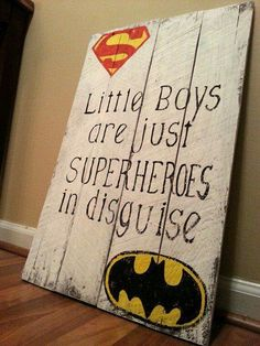 I love the quote. My boys definitely save the day all the time with their hugs and books. The decals could be any favorite superhero.