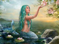 Pretty Mermaid.. Turquoise hair!!