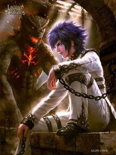 Gargola y guerrero Legend of the cryptids