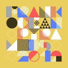 Pattern Typeface - Tamer Köşeli