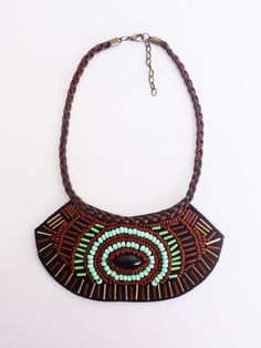 Necklace ethnic style very current and trendy. by MontradaCarolina on Etsy