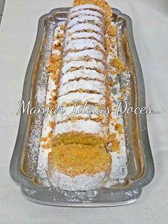 Manjar de ideias doces... e não só!: Rolo de coco Food Cakes, Portuguese Desserts, Biscuits, Chocolate, Banana Bread, Health Tips, Cake Recipes, Food And Drink, Sweets