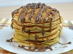 The Original Recipe for American Pancakes - The Original Recipe for American Pa. - The Original Recipe for American Pancakes – The Original Recipe for American Pancakes – - Cheap Clean Eating, Clean Eating Snacks, American Pancakes, Chocolate Chip Pancakes, Homemade Pancakes, Salty Cake, Baking Tins, Savoury Cake, Mini Cakes