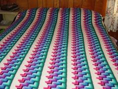 Free crochet pattern from Glenda in the Woods - Shadow Reflection Afghan  This is amazing work! .#crochetafghans