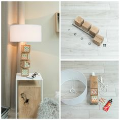 #DIY - Créer une lampe avec des cubes de bois