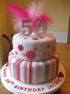 birthday cake - Mixture of spots and stripes