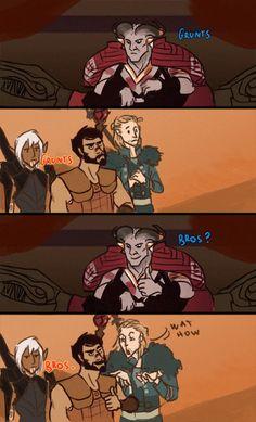 Hawke and the Arishok #dragonage