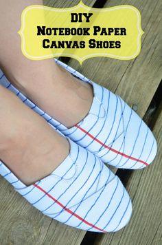 DIY Notebook Paper Teacher Fashion Shoes