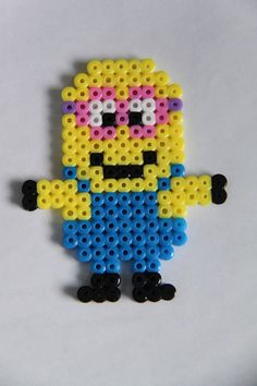 Minion hama perler beads