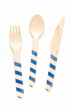 For hanukkah, Blue Stripes by Sucre Shop | Sucre Shop