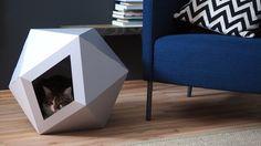 Der Lieblingsplatz deiner Katze sind Schachteln? Dann ist die Cat Box von rein getigert genau das Richtige: Aus gemütlicher Pappe - aber in modernem Design.