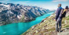 Hiking up the Besseggen Ridge, Norway