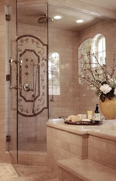 Beautiful tile, beautiful bathroom details.