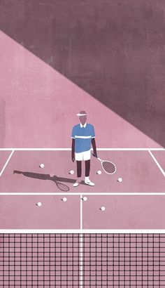 Tennis Court inspiration. Pastel everywhere of course.
