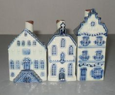 These are KLM Airline liquor bottles from a trip to Amsterdam