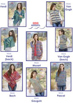 For Knitcol lovers! Many wonderful patterns available as leaflets at your LYS! ASk for them;) www.adriafil.com  #adriafil #yarn #filato #leaflet #pattern #knit #knitting #tricot #tricoter #pictures #knitcol #madeinitaly #handmade #diy #doityourself #poncho #accessories #pullover #hoodie #cardigan #jacket #selfpatterning #selfstriping #jacquard