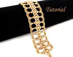 Tutorial Alcira Bracelet Beading tutorial Beading par Ellad2