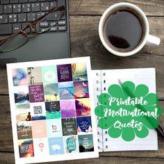 Motivational/Inspirational Quotes Printable Planner Sticker, Erin Condren Sticker by PlannerStickerLady on Etsy