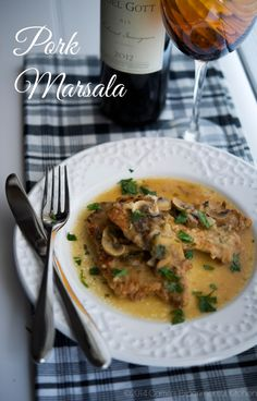 Pork Marsala-Carrie's Experimental Kitchen  Tender pork tenderloin in a Marsala wine mushroom sauce.