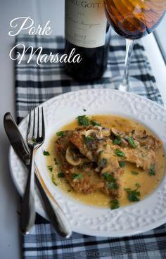 Pork Marsala-Carrie's Experimental Kitchen  Tender pork tenderloin in a Marsala wine mushroom sauce.