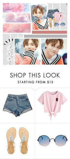 """""""346. Kim Jinwoo"""" by staycloudyornah ❤ liked on Polyvore featuring Cotton Candy, WithChic, Sunday Somewhere and Old Navy"""