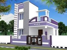 Hasil gambar untuk front elevation designs for duplex houses in india House Front Wall Design, Single Floor House Design, House Outside Design, Village House Design, Bungalow House Design, Front Elevation Designs, House Elevation, Building Elevation, 20x40 House Plans