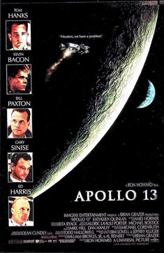 """""""Apollo 13"""" directed by Ron Howard with an all-star cast headlined by Tom Hanks. Great film imo. Classic Movie Posters, Movie Poster Art, Classic Movies, Ron Howard Movies, Vintage Movies, Old Movies, Great Movies, Tom Hanks Movies, Bon Film"""
