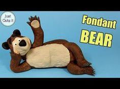 Fondant Bear cake topper tutorial - from Masha and the Bear - CakesDecor