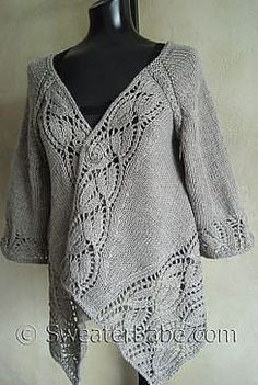ravelry 112 dramatic lace top down wrap cardigan pattern by sweaterbabe - PIPicStats Wrap Cardigan, Cardigan Pattern, Mode Crochet, Knit Crochet, Yarn Brands, Knit Picks, Lace Knitting, Knit Patterns, Knitting Patterns Free