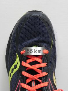 Motivational Shoelace Tag - 56km by SA Medal Hangers