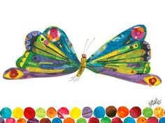 """Eric Carles Butterfly"" kid's wall decor from the book Eric Carle's The Very Hungry Caterpillar with Oopsy Daisy, Fine Art for Kids $119"