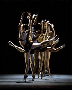 """American Ballet Theater performing Twyla Tharp's """"Rabbit and Rogue"""" (2008). Photo by Rosalie O'Connor."""