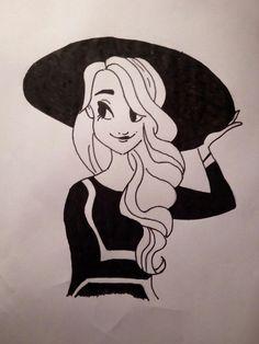 Black and white girl/černo-bílá dívka 2#