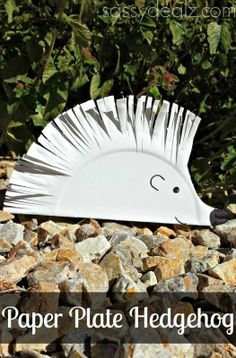 Paper Plate Hedgehog Craft ~ simple directions provided
