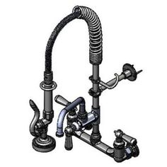 "Mini Pre-Rinse Unit; 8"" wall mount; low flow spray valve; 8"" add-on-faucet nozzle at HotelRestaurantSupply.com $408.99"