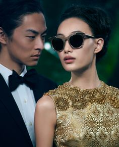 "Love the ""shades""  Shu Pei Gets Romantic for Vera Wangs Spring 2013 Campaign"